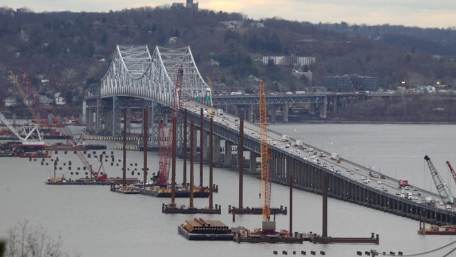 Construction continues for the new Tappan Zee Bridge.