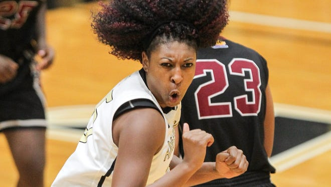 Anderson senior forward Alexis Dillard scored a career-high 26 points in a 79-63 win over Erskine this season.
