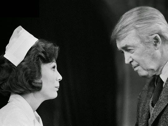 Kathryn Leigh Scott and Jimmy Stewart in British stage