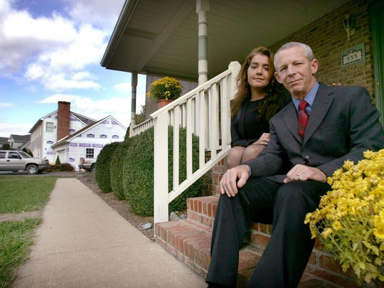 Former Smyrna Councilman Patrick Cahill and his wife Julie at their home November 10, 2005.