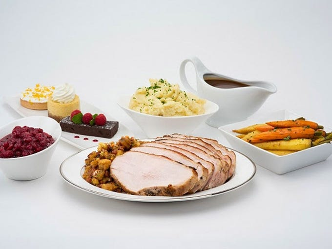 Roy's | The three-course Thanksgiving dinner, served