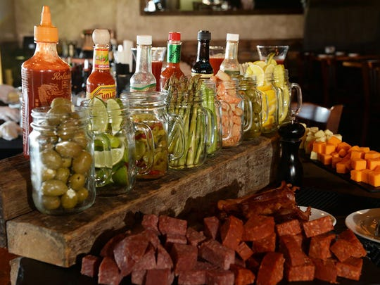 Burntwood Tavern at Mercato in North Naples has a build-your-own bloody mary bar 11 a.m. to 3 p.m. every Saturday and Sunday during brunch.