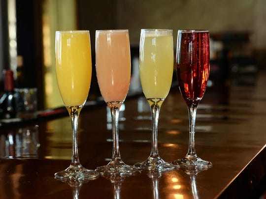 Burntwood Tavern at Mercato in North Naples features mimosas flavored with a variety of fruit juices.