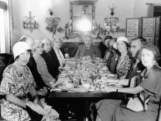 Albert Einstein luncheon at the home of Samuel Untermyer,