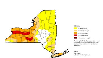 US Drought Monitor report for New York as of August 23, 2016.