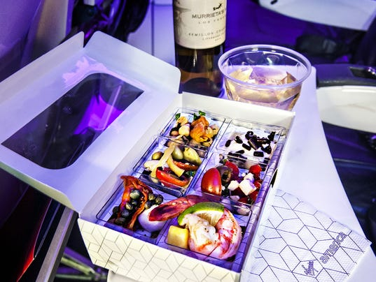 See which airlines have the healthiest food for Food bar virgin east coast