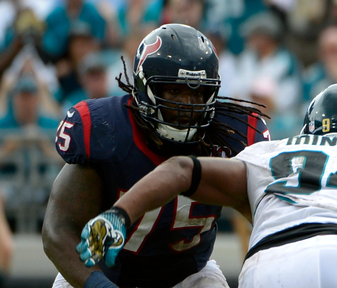 Derek Newton (75) went three years without missing a game at one point.