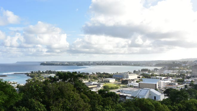 In this file photo, a view from Agana Heights shows blue skies.