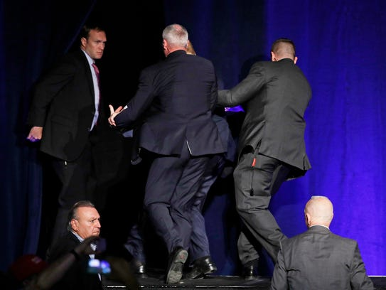 Secret Service agents pull Republican presidential