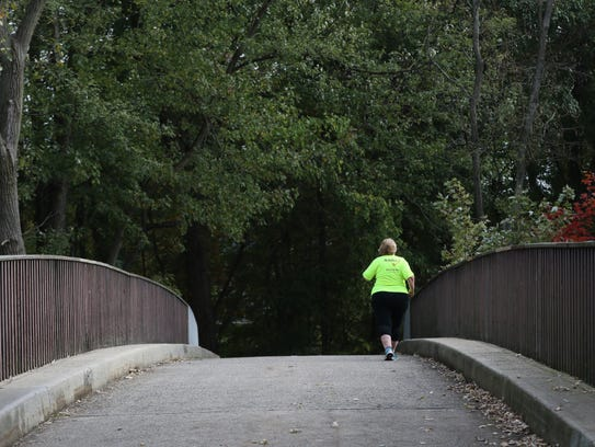 Barbara Brown, 60, of Elmwood Park, who started running