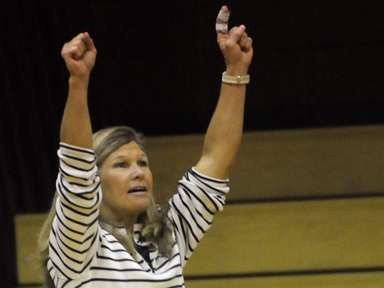 Coach Julie Gordon and the Montgomery Academy volleyball team are undefeated this season.