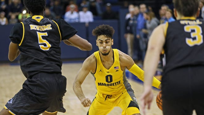 Markus Howard and his Marquette teammates played in a charity basketball game vs. UW-Milwaukee last Sunday at the Al McGuire Center.