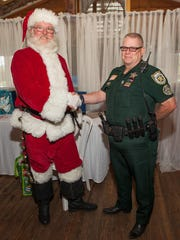 Thank you to the  Palm Beach County Sheriff office who support local community events, particularly when they get to meet with Santa Claus