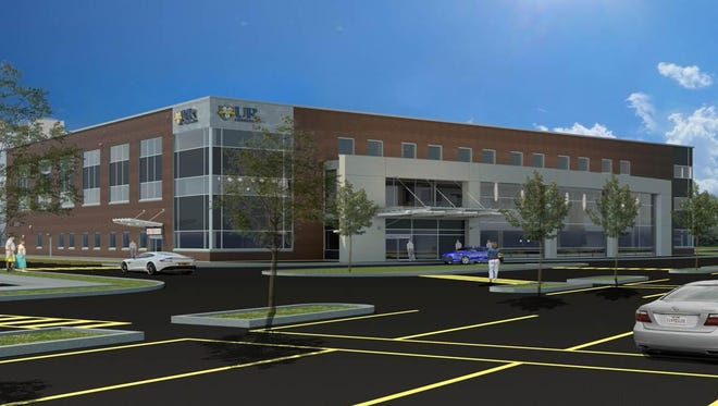 Rendering of the exterior of the UR Medicine building on East River Road that will house imaging and a clinic to take care of the multidiscipline needs of children and teens with autism.