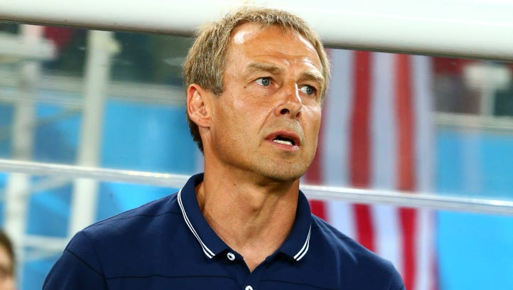 USA head coach Juergen Klinsmann prior to the game against Ghana during the 2014 World Cup at Estadio das Dunas.