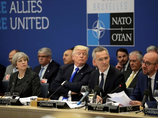 Image result for trump at NATO, photos