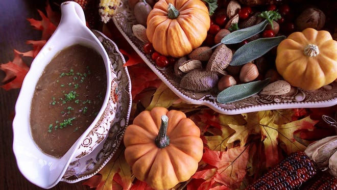 Giblet gravy and other side dishes are important parts of a Thanksgiving dinner.