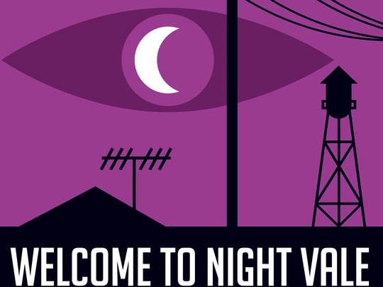 "The ""Welcome to Night Vale"" podcast logo, created by"