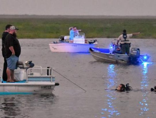 Search efforts at River Lakes Conservation Area Boat