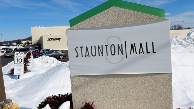 A sign marks an entrance to Staunton Mall from Frontier Drive in Staunton on Wednesday, Feb. 25, 2015.