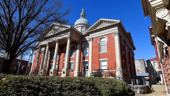 Mike Tripp/The News Leader The Augusta County Courthouse, photographed on Jan. 18, is located in downtown Staunton. The Augusta County Courthouse, photographed on Jan. 18, is  located in downtown Staunton.