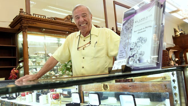 Tom King plans to retire after 47 years as a jeweler and 33 years as owner of H.L. Lang & Co. Jewelers in downtown Staunton. He is photographed in his business on Tuesday, May 26, 2015.