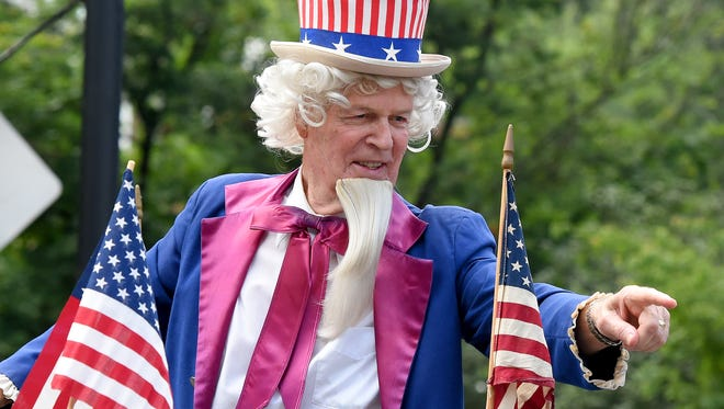 R.M. Stone portrays Uncle Sam in the parade as he has for the past decade. America's Birthday Celebration held its annual parade in Gypsy Hill Park on Saturday, July 4, 2015.