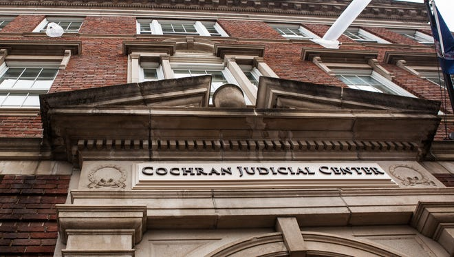 Part of the third floor ceiling collapsed at the Cochran Judicial Center causing the Staunton courthouse to temporarily close on Thursday, Aug. 2015.