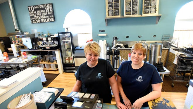 Nikki Sprouse and Alisa Brooks are photographed behind the counter of Nisa's Cafe, which they co-own together, in Verona on Friday, Oct. 30, 2015.