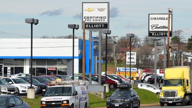 Elliott Chevrolet Cadillac located on Greenville Avenue in Staunton.