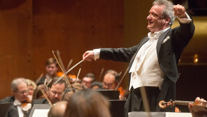 Louis Langrée, conductor, leading the Cincinnati Symphony Orchestra in Lincoln Center's Great Performers Series.