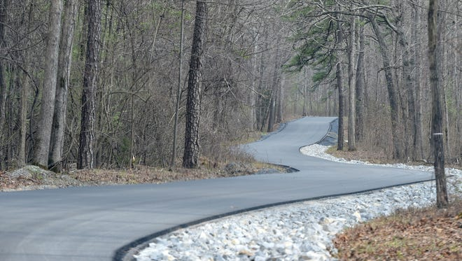 Newly paved section of Coal Road passes through the forest near Mount Torrey Road.