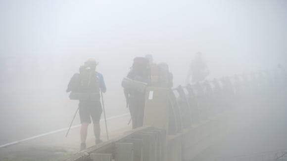 "Appalachian Trail hikers David ""Ribbit"" Blount of Georgia,"
