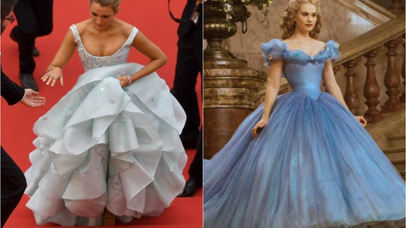Compare her stair-climbing to Lily James' in 'Cinderella.'