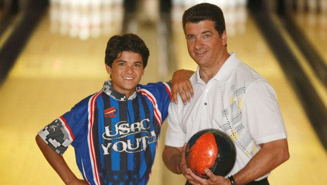 Russ Myers and his 14-year-old son Nick are bowling champions, having won two titles each at El Paso USBC tournaments.