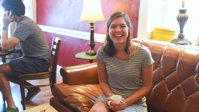 """Devon Boyers shares a laugh while talking about her choice to take a year off from schooling, aka. a """"gap year,"""" between high school and college. Boyers speaks during an interview in Staunton on Wednesday, Sept. 7, 2016."""