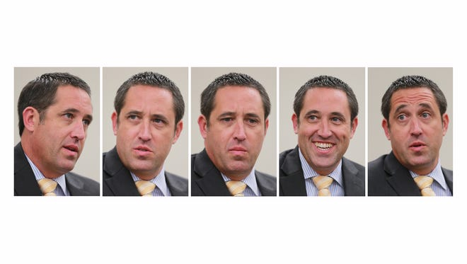 Texas Comptroller Glenn Hegar spoke about the Texas budget, the upcoming legislative session and the end-of-fiscal-year 2016 numbers Thursday during a stop at the El Paso Times.