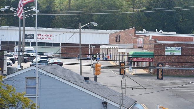 Chestnut Hills Shopping Center viewed from Grubert Avenue in Staunton on Wednesday, Sept. 14, 2016.
