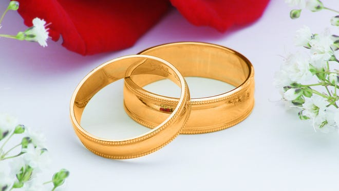 Photo, gold wedding rings, High res, Color