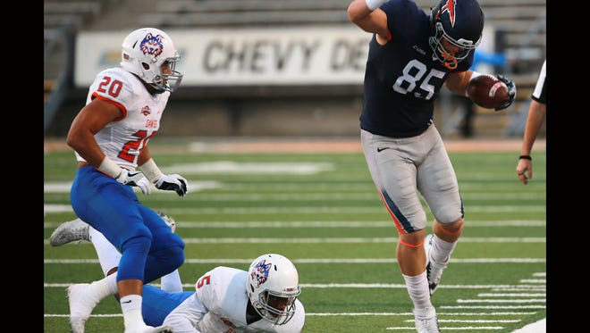 UTEP's Hayden Plinke is second among tight ends in touchdown receptions.
