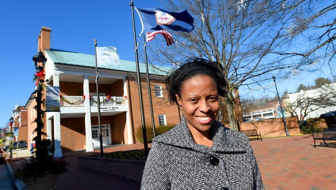 Elzena Anderson serves as a Waynesboro city councilwoman. She has been in office now for about half a year, following her election in 2016. Anderson is photographed outside the Charles T. Yancey Municipal Building in downtown Waynesboro on Dec. 22, 2016.