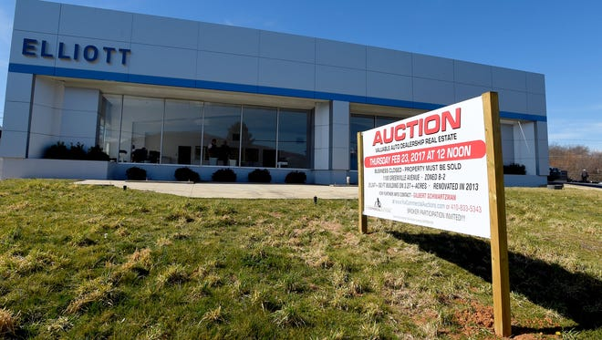 Although a bid for 1 million dollars was submitted, the Elliott Auto Group property that housed a Chevrolet and Cadillac dealership on Greenville Avenue did not sale during auction on Thursday, Feb. 23, 2017, and was withdrawn.