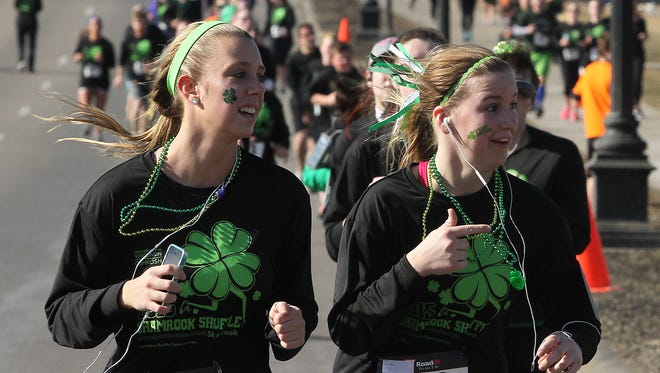 The annual UW-Oshkosh Shamrock Shuffle 5K run/walk is pictured in 2015. This year's event is Saturday, March 11.