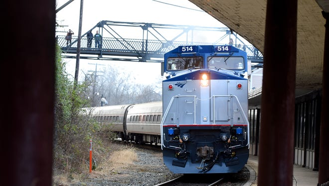Amtrak's eastbound Cardinal #50 train arrives at the Staunton train station to offload and take on travelers before continuing onward on one Dec. 23, 2016. A long-distance passenger rail service along the I-20 corridor in North Louisiana has long been a dream and topic of discussion for local officials. Now, the time seems right for the dream to come to fruition, some officials say.