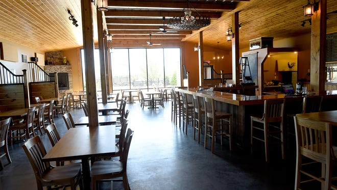 The tasting room at Stable Craft Brewing, located at Heritage Hill Farm and Stables on Madrid Road in Augusta County.