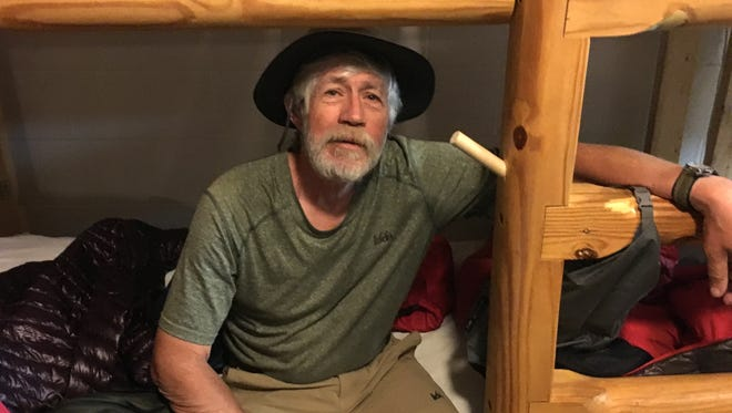 Pete Knowland, known as Now or Never on the Appalachian Trail, is from Asheville, North Carolina. He is a thru-hiker on the trail this year and spent a couple of nights at Stanimal's 328 Hostel in Waynesboro.