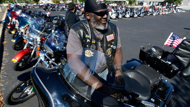 Scott Whitfield rode up from Germantown, Maryland, for the Harley-Davidson open house on Thursday.