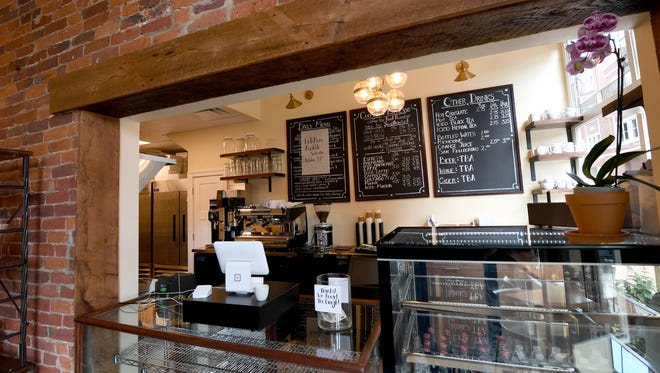 Inside Réunion Bakery & Espresso located at 26 South New Street in downtown Staunton.