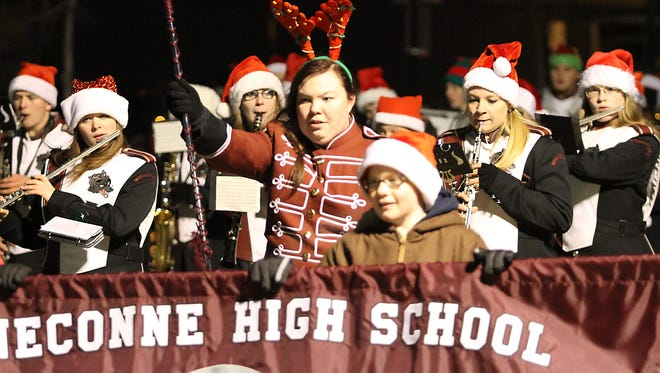 The city of Oshkosh held their annual Holiday Parade on Thursday, November 13th downtown with the lighting of he tree in the square, followed by bands and floats to start out the seasonal celebrations.