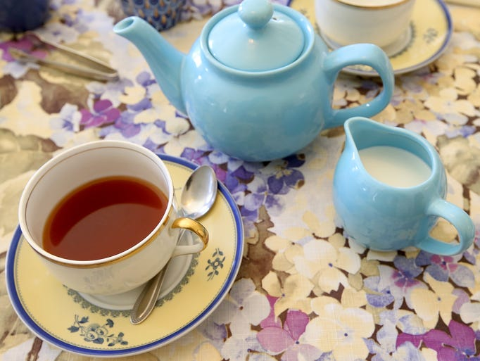 A tea setting at Mrs Muir's House in Port Gamble on